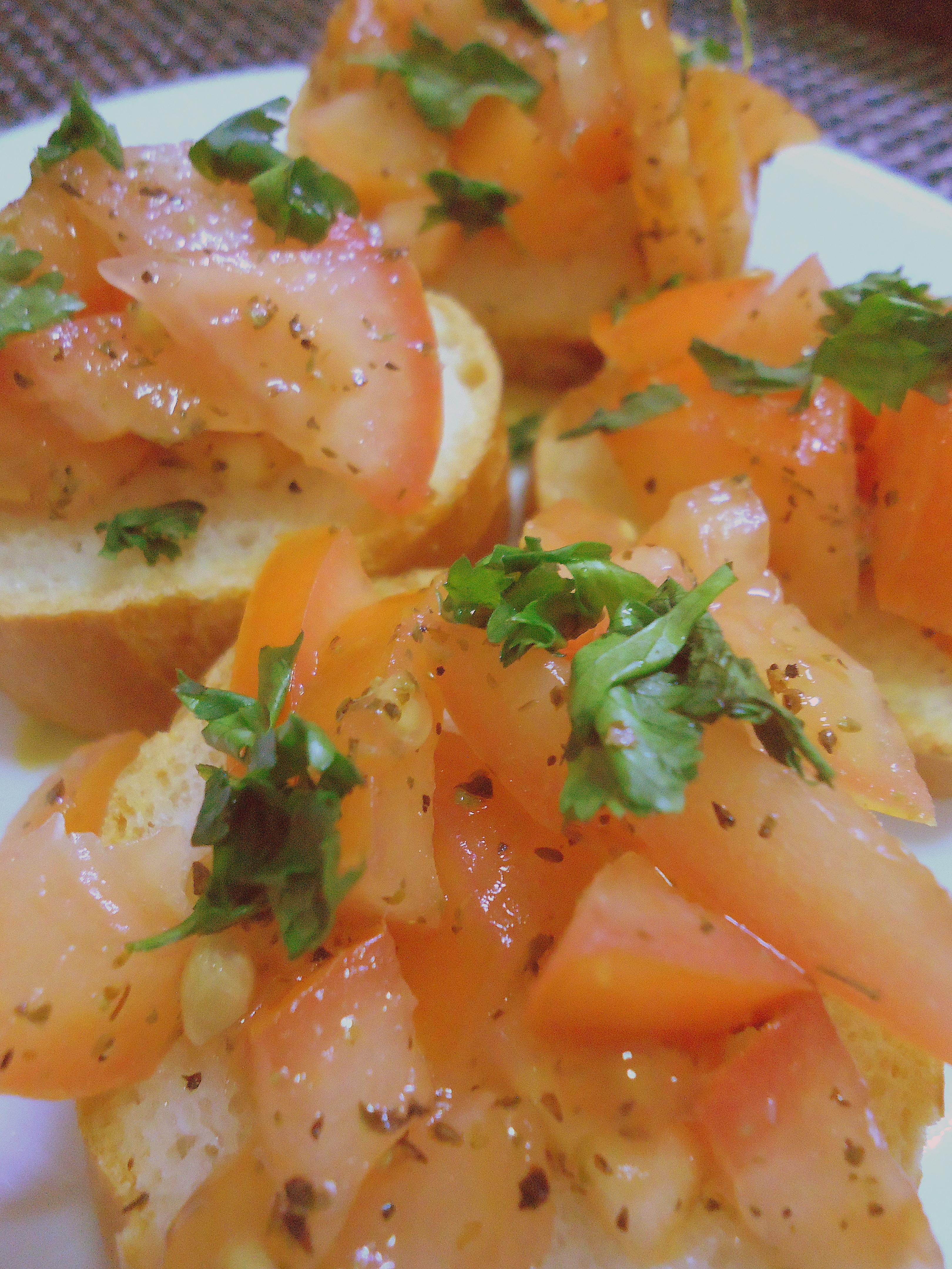 Italian Antipasto: Tomato and Basil Bruschetta with Walnut Pesto ...