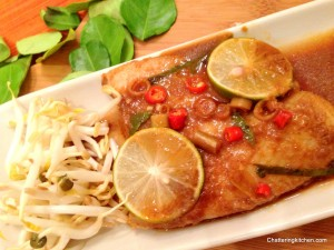 Thai Fusion: Foil-Baked Dory Fish Infused with Kaffir Leaves and Lemongrass
