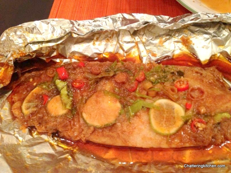 Thai Fusion Foil Baked Dory Fish Infused With Kaffir